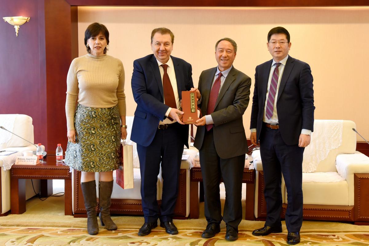 Delegation of  UKIM visited SWUFE & Council of Confucius Institutes